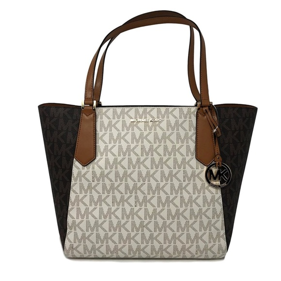 36e654ba1836 Michael Kors Kimberly Tote Bag in Van Brwn Acorn